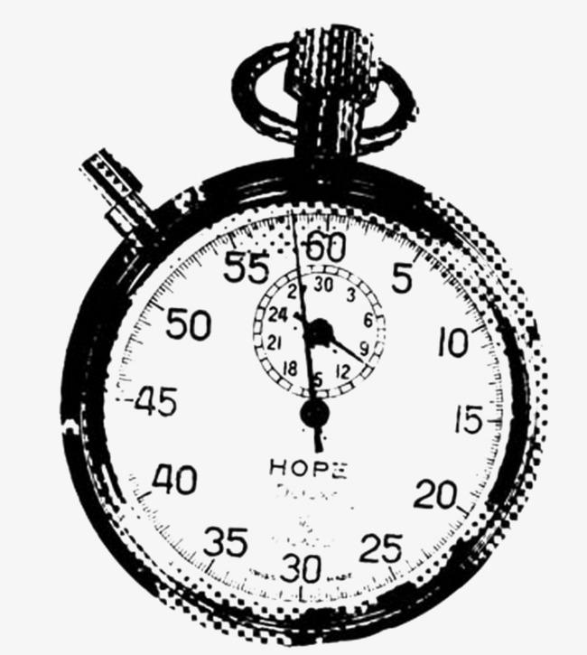 650x725 Black Sketch Pocket Watch, Black, Table, Pocket Watch Png Image