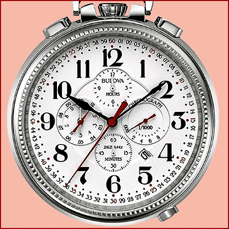 450x450 Bulova Ultra High Frequency Chronograph Pocket Watch, Model 96b249