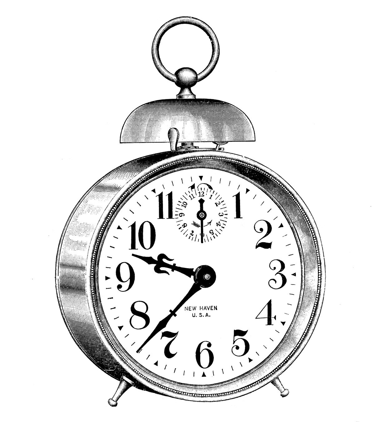1211x1350 Clock Drawing