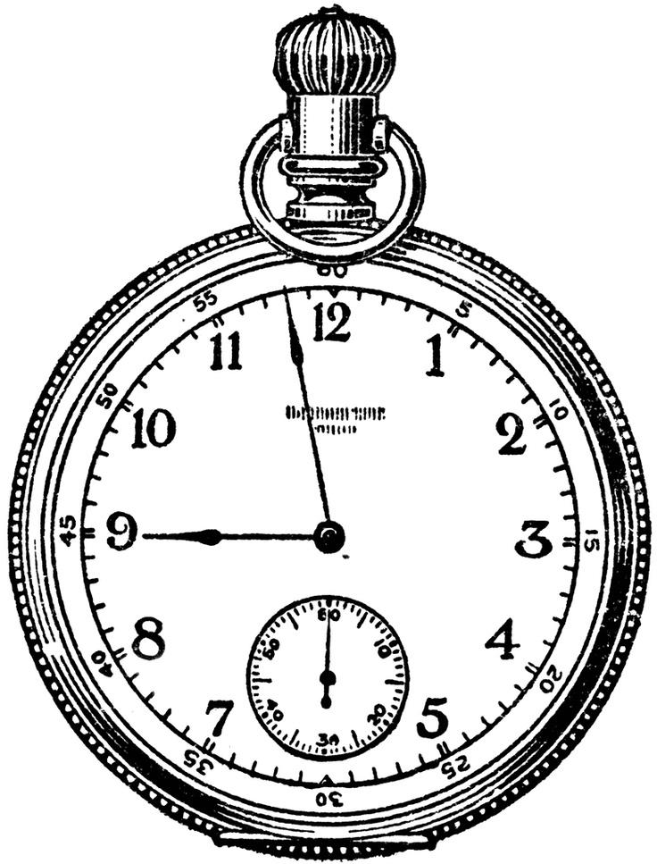 736x967 Drawn Watch Stopwatch