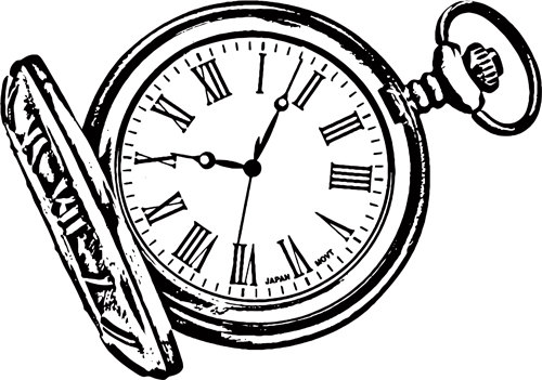 500x351 Coloring Pages Of Pocket Watches The Ideas Page