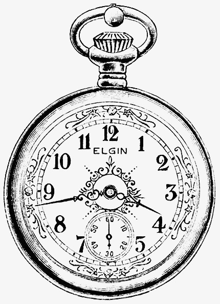 430x593 Hand Painted Pocket, Vintage Pocket Watch, Watch, Clock Png Image