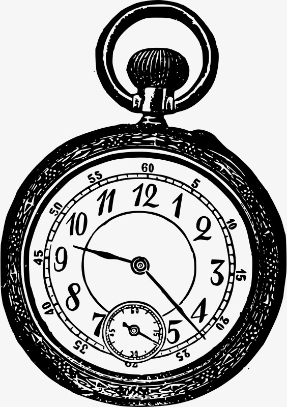 564x800 Hand Painted Table, Hand Painted, Cartoon, Pocket Watch Png