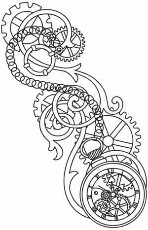 Pocket Watch Tattoo Drawing
