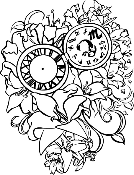 454x592 Lillies And Pocketwatch By Itsfish3