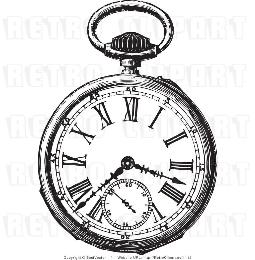 1024x1044 Old Clock Tattoos Outline Pictures To Pin