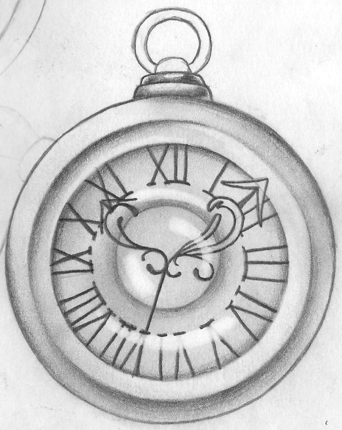 pocket watch tattoo drawing at free for personal use pocket watch tattoo. Black Bedroom Furniture Sets. Home Design Ideas