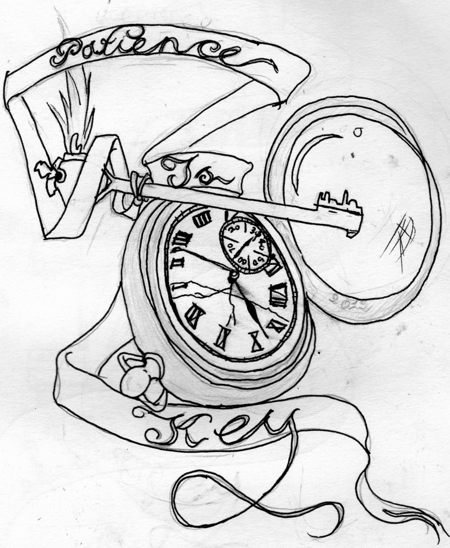 900x1095 Patience Is Key Tattoo Design By I Became Insanity