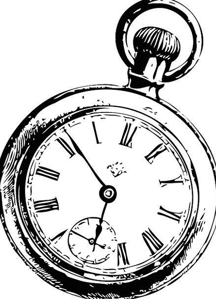 439x609 Pocket, Concise, Timepiece, Watch, Clock, Tattoo, Signal, Hands