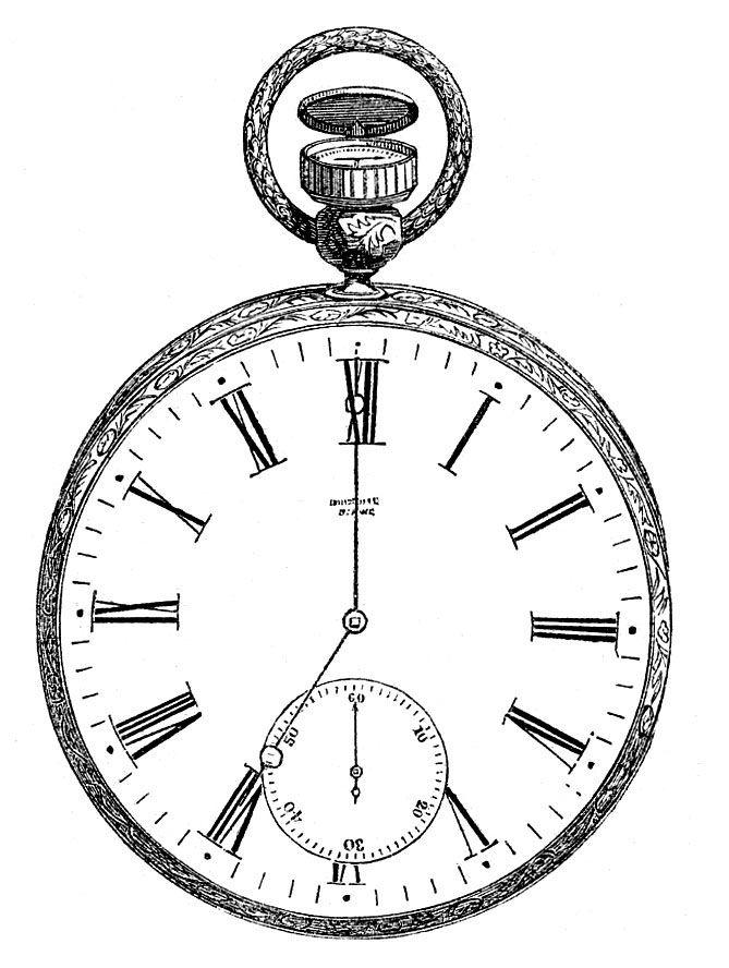 669x888 Pocket Watch Clipart Sketch
