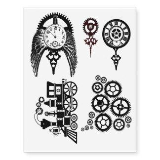 324x324 Steampunk Temporary Tattoos Zazzle
