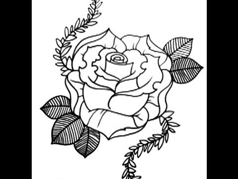 480x360 How To Draw A Rose New Skool Tattoo Style Part 1