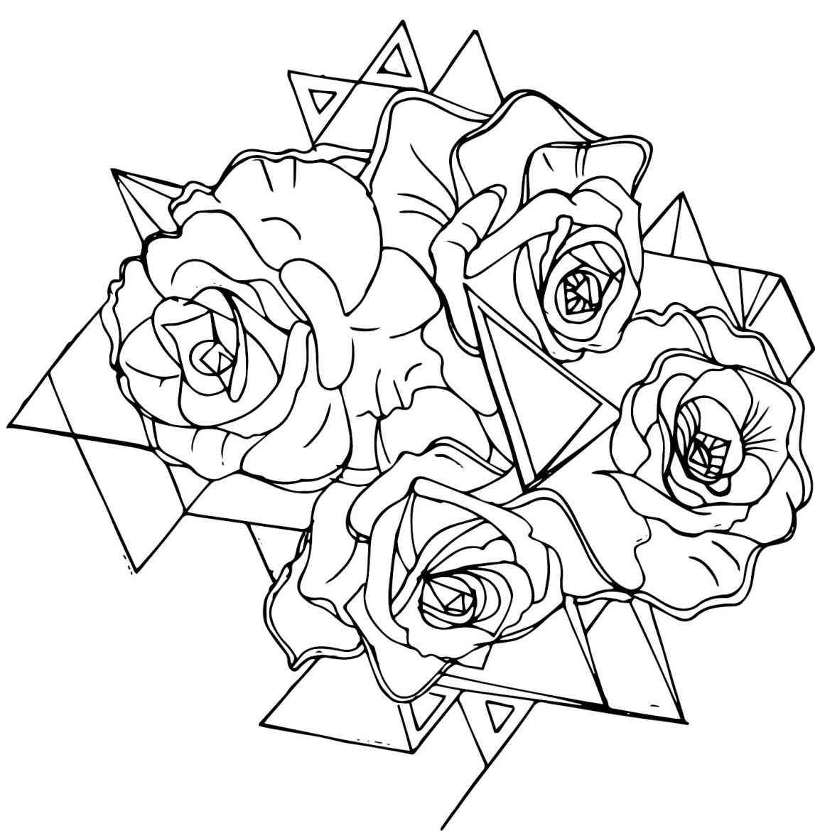 1147x1169 Rose Drawing Outline Drawing Rose Drawings Love Spells