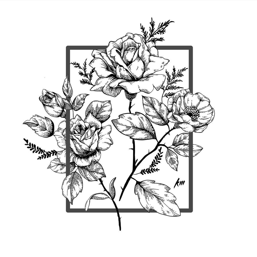 1080x1080 Sketch Art, Pencil Drawings Tag Rose Archives