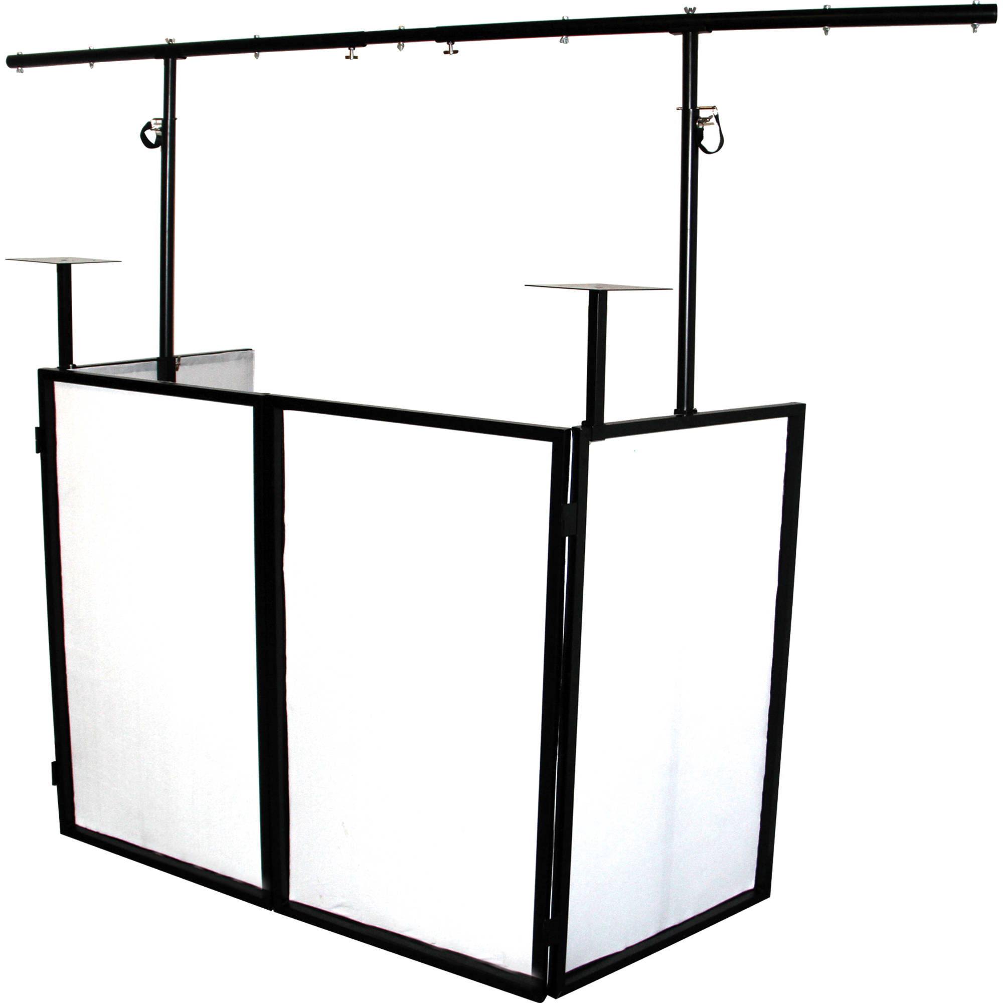 2000x2000 Novopro SDX Foldable DJ Booth With Lighting Bar And SDXBOOTH BampH