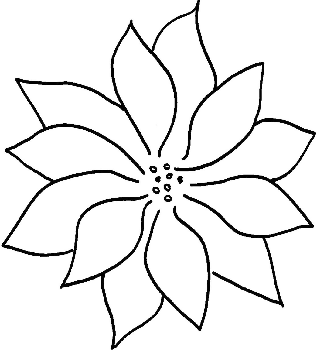 Poinsettia Line Drawing