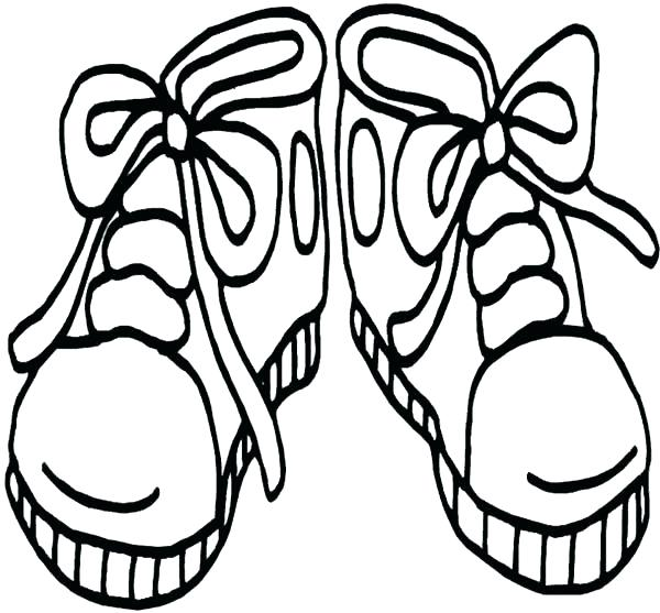 600x557 Coloring Page Shoes Basketball Shoes Coloring Page Coloring Pages