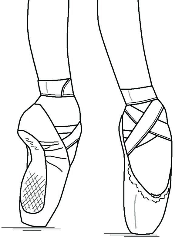 Pointe Shoe Drawing At Getdrawings Free For Personal Use