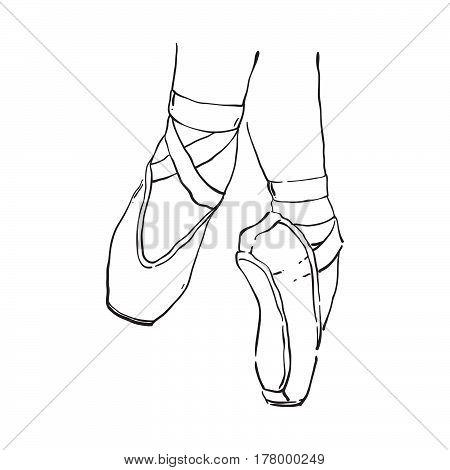 450x470 Vector Hand Drawn Ballet Shoes Vector Amp Photo Bigstock