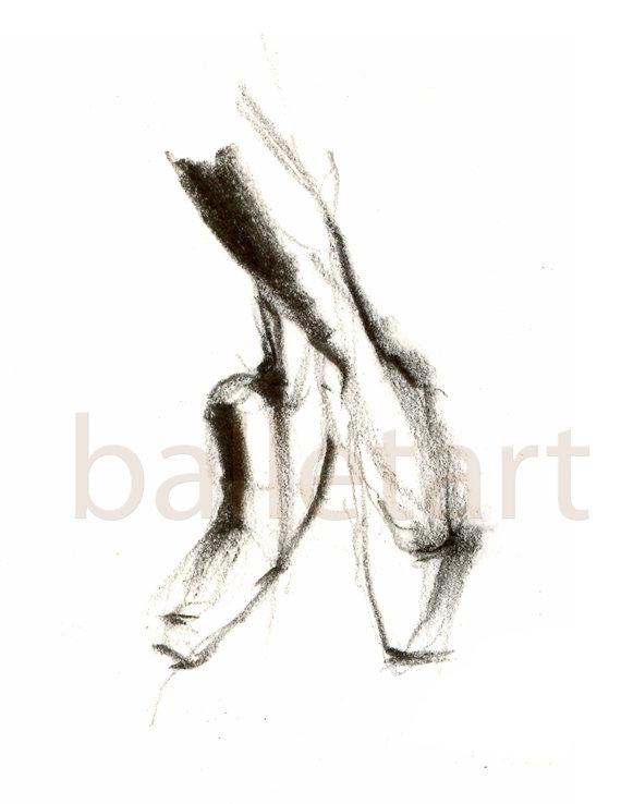 570x738 Dance Gifts Ballet Art Prints Set Of 3 11x17