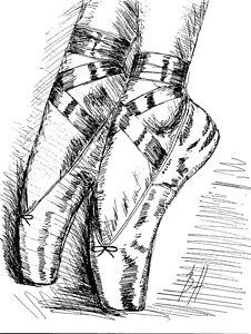 226x300 Ballet Shoe Drawings