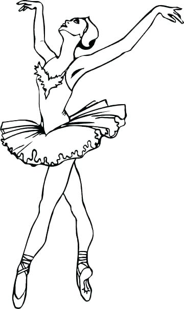 360x602 Coloring Pages Ballerina Ballerina Dancing On Her Toe Coloring