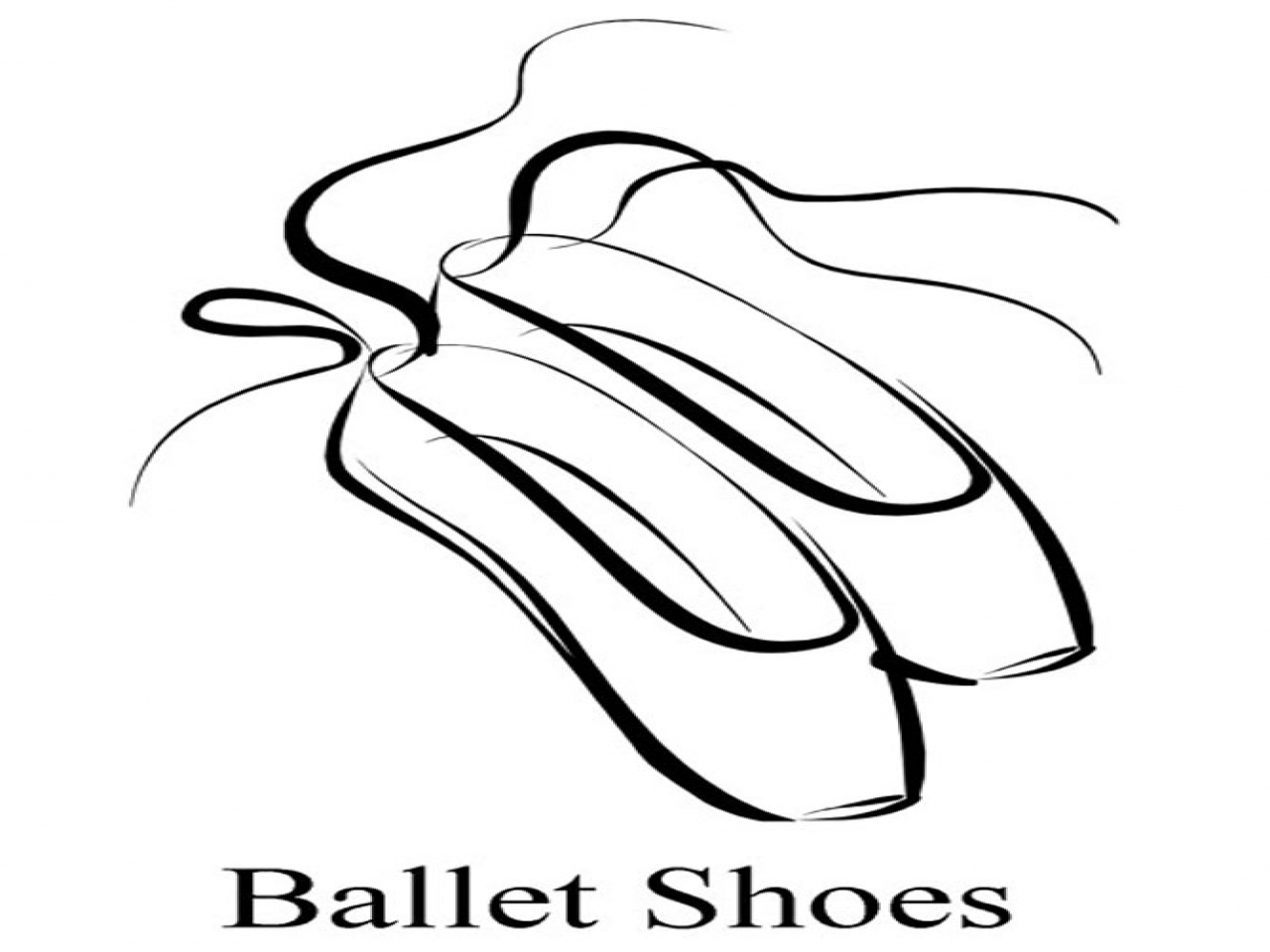 1280x960 Dance Shoes Coloring Ballet Drawing