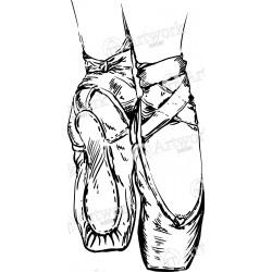 250x250 Ballet Shoes Svg
