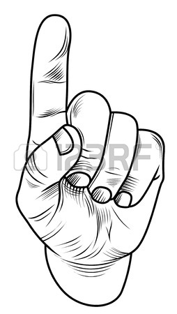 254x450 Hand With Forefinger,index Finger,hand Drawn Vector Icon Royalty