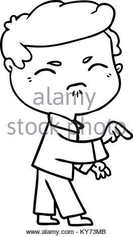 264x470 Cartoon Annoyed Man Pointing Finger Stock Vector Art