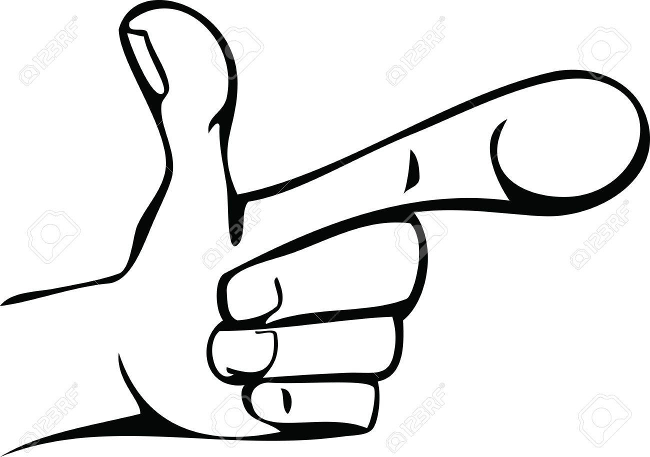 1300x914 Cartoon Line Drawing Of Human Hand Pointing Royalty Free Cliparts