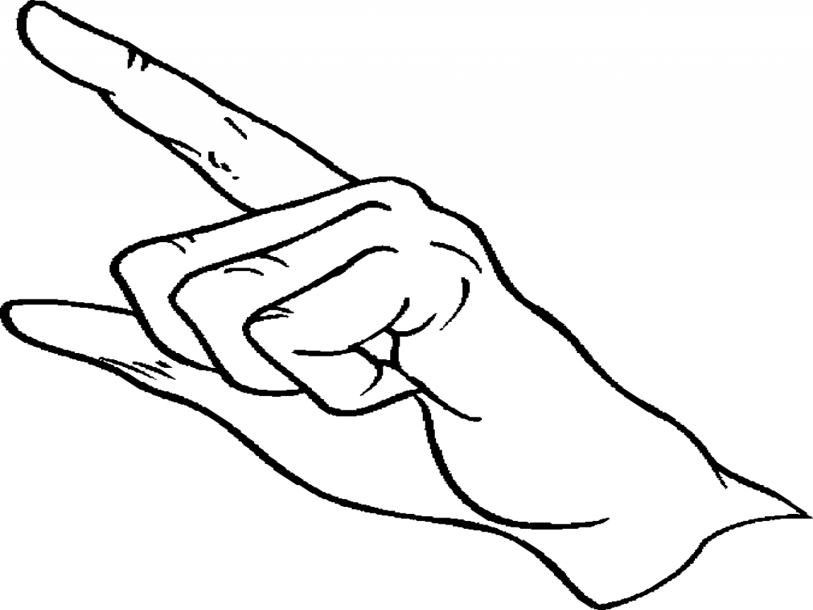 1152x864 Coloring Book Images Of Thumbs Up Pointing Finger Page