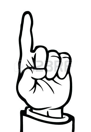 309x450 Pointing Finger Clipart Sign Language D Finger Pointing Hand