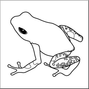 304x304 Clip Art Frogs Strawberry Poison Dart Frog Bampw I