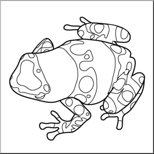 304x304 Clip Art Frogs Yellow Banded Poison Dart Frog Bampw I