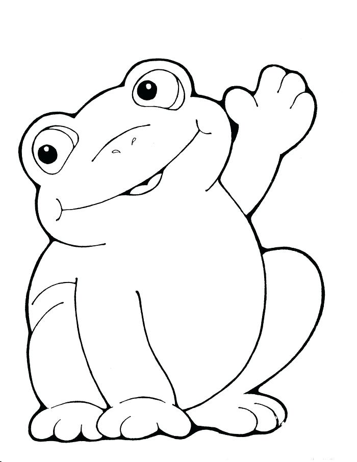 700x906 Frog Coloring Pages To Print Cartoon Amphibian Frog Coloring Page