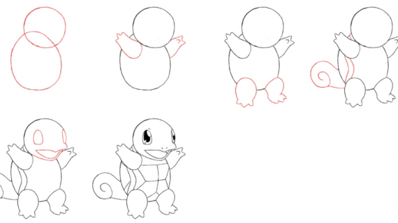 570x320 How To Draw Pokemon How To Draw Squirtle