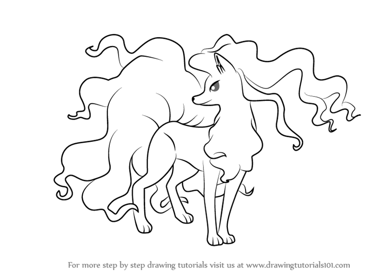 800x565 Learn How To Draw Alola Ninetales From Pokemon Sun And Moon
