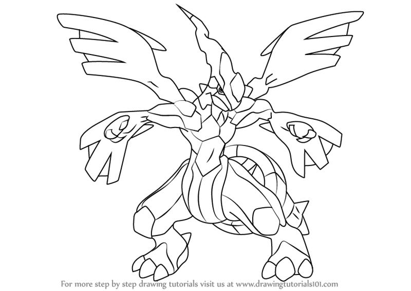 800x566 Learn How To Draw Zekrom From Pokemon (Pokemon) Step By Step