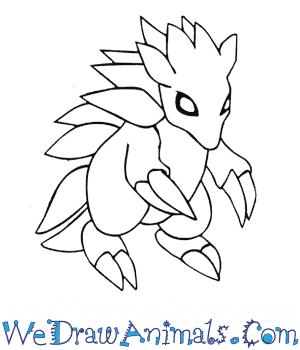 300x350 How To Draw Sandslash Pokemon