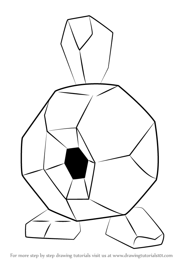 596x842 Learn How To Draw Roggenrola From Pokemon (Pokemon) Step By Step