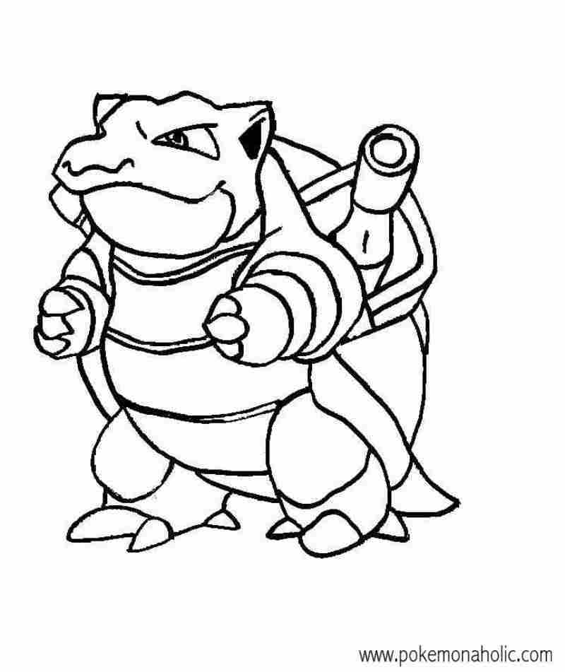 Pokemon blastoise drawing at free for for Pokemon coloring pages blastoise