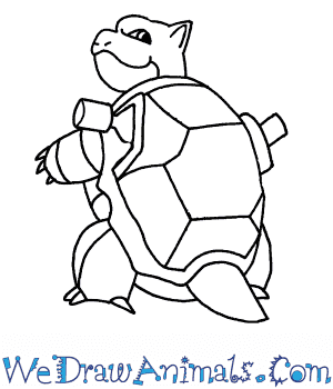 300x350 How To Draw Blastoise Pokemon