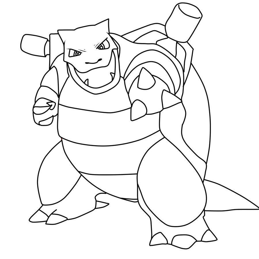 900x900 Blastoise Coloring Page Free Printable Pokemon Pages Cartoons Mega