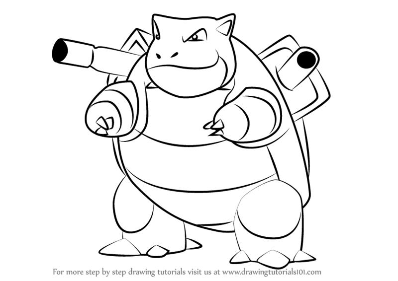 800x566 Learn How To Draw Blastoise From Pokemon Go (Pokemon Go) Step By