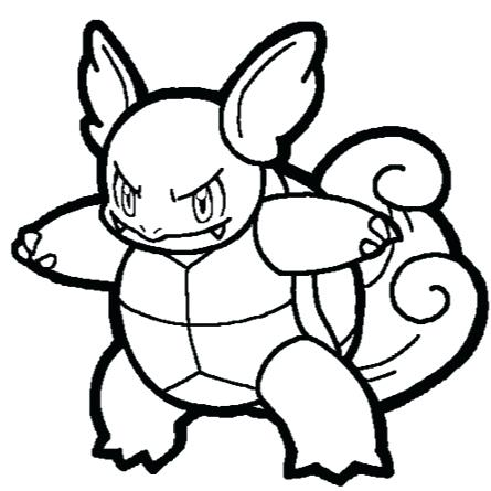 445x445 Blastoise Coloring Page Mega Free Colouring Pages Pokemon Mega