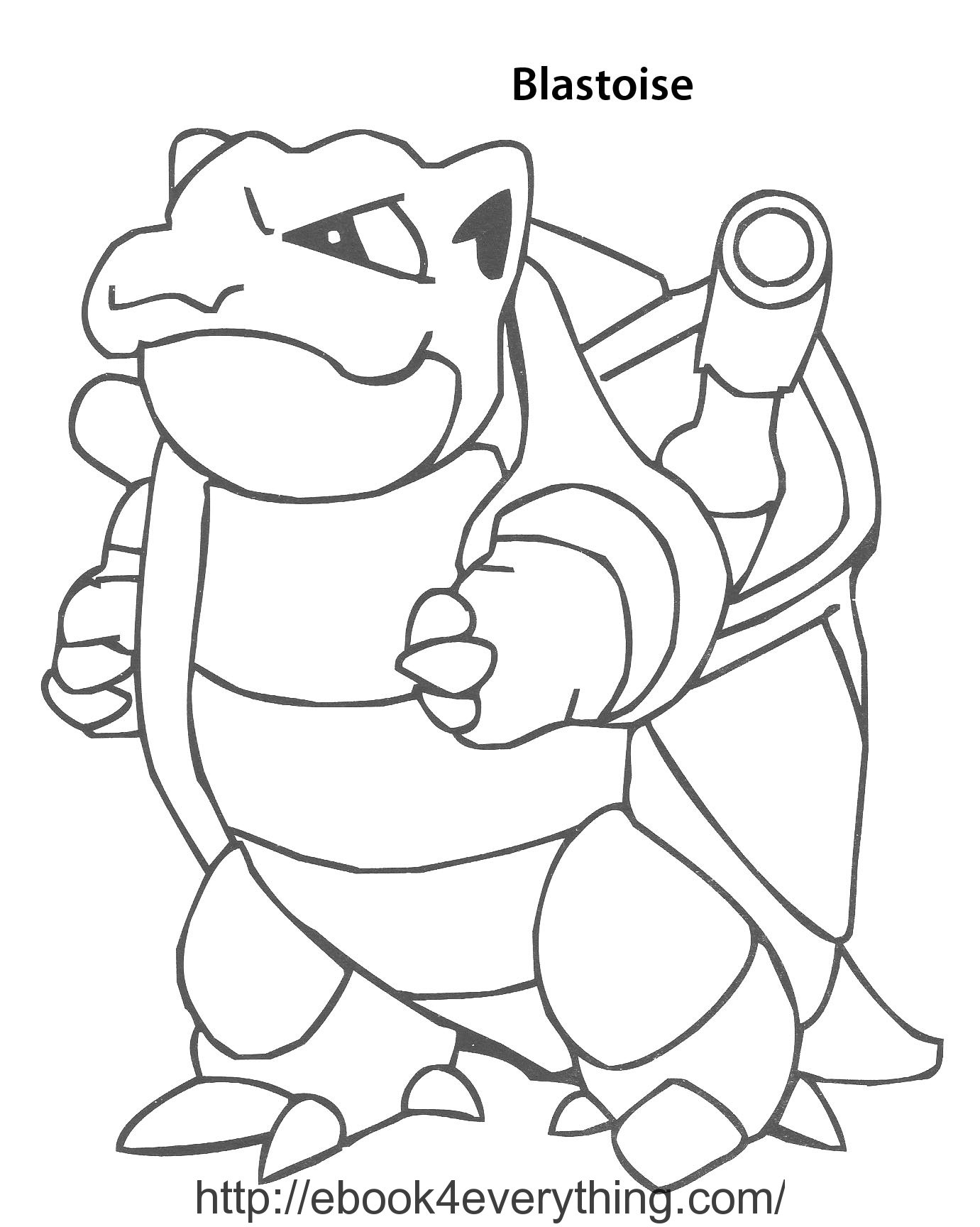 1381x1728 Pokemon Coloring Pages Mega Blastoise