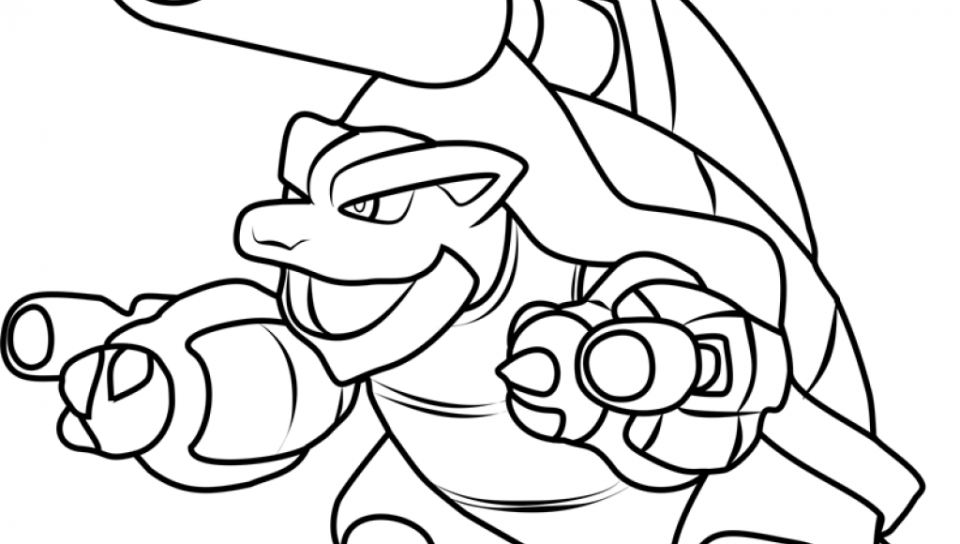 960x544 Pokemon Colorings Mega Blastoise Web Ripping Coloring Pages