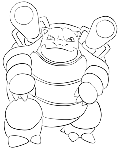 384x480 Blastoise Coloring Page Free Printable Coloring Pages