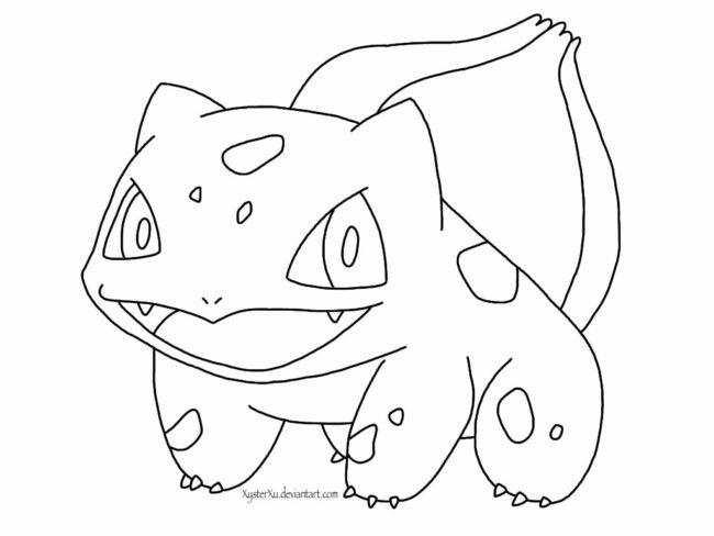 650x488 Bulbasaur Pokemon Coloring Page To Snazzy Draw